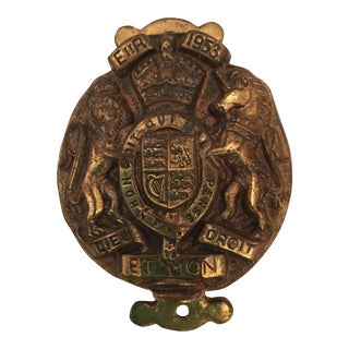 English Decorated Brass Door Knocker