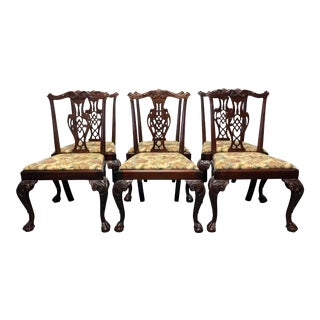 Hickory Chair Mahogany Chippendale Ball Claw Dining Side Chairs - 6