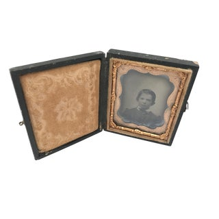Daguerrotype Copper Framed Portrait