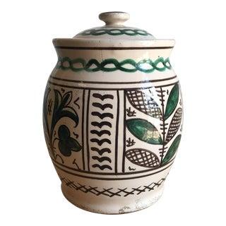 Mid-Century Italian Pottery Canister