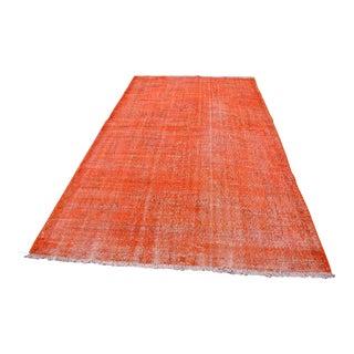 Turkish Orange Overdyed Rug - 5′11″ × 9′10″