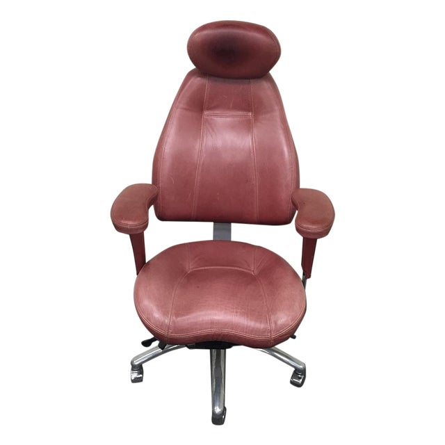 Image of Relax the Back Ergonomic Burgundy Office Chair