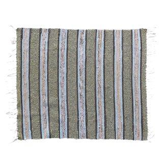 Scandinavian Handwoven Striped Rug - 2′5″ × 2′11″