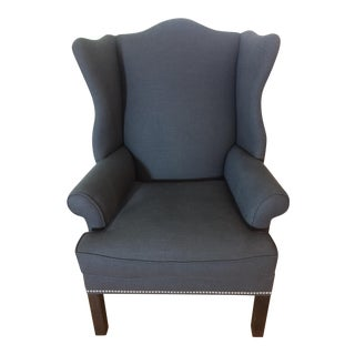 Ethan Allen Gray Wing Back Arm Chair