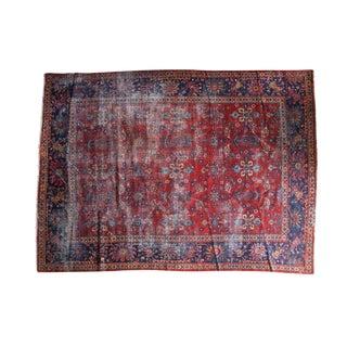 "Vintage Distressed Mahal Carpet - 9'1"" X 12'"