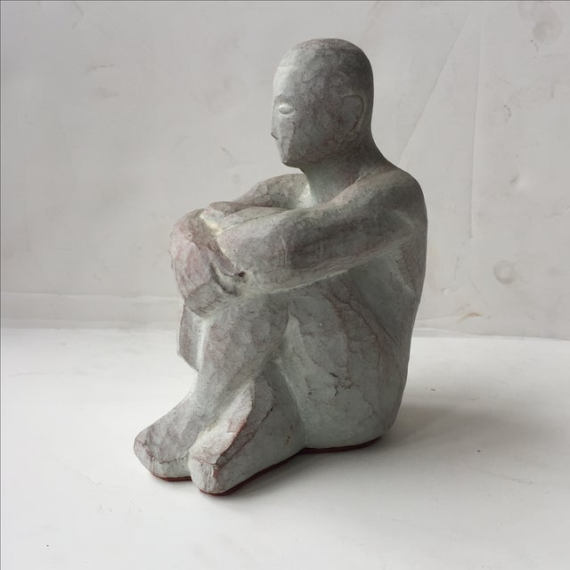 Men Seated Terra Cotta Sculpture - Image 11 of 11
