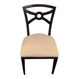 Beige & Espresso Side Chair