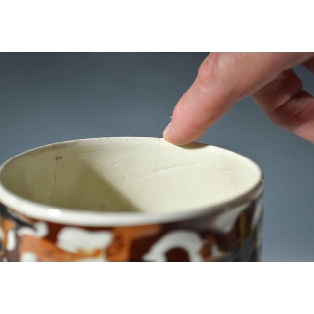 Marbled Creamware Mocha Pottery Tankard. - Image 5 of 6