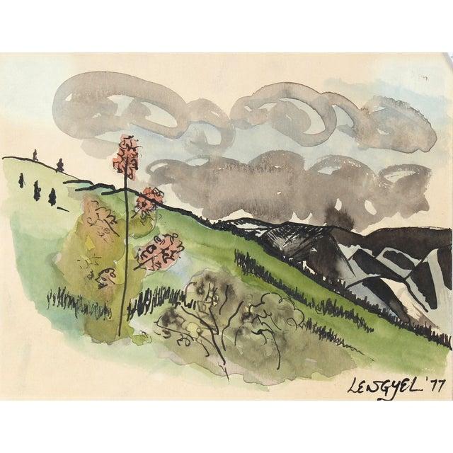 Mid-Century Alaska Landscape Watercolor Painting - Image 1 of 2
