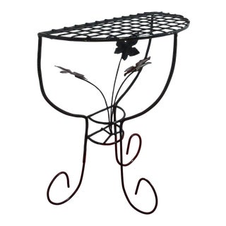 Vintage Iron Outdoor Patio End Table