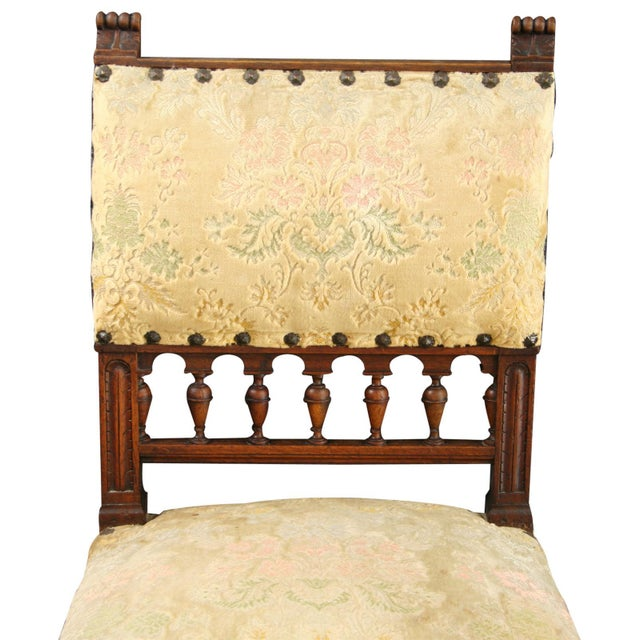 Antique 1900 French Dining Chairs - Set of 8 - Image 4 of 8