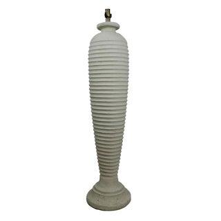 White Plaster Floor Lamp