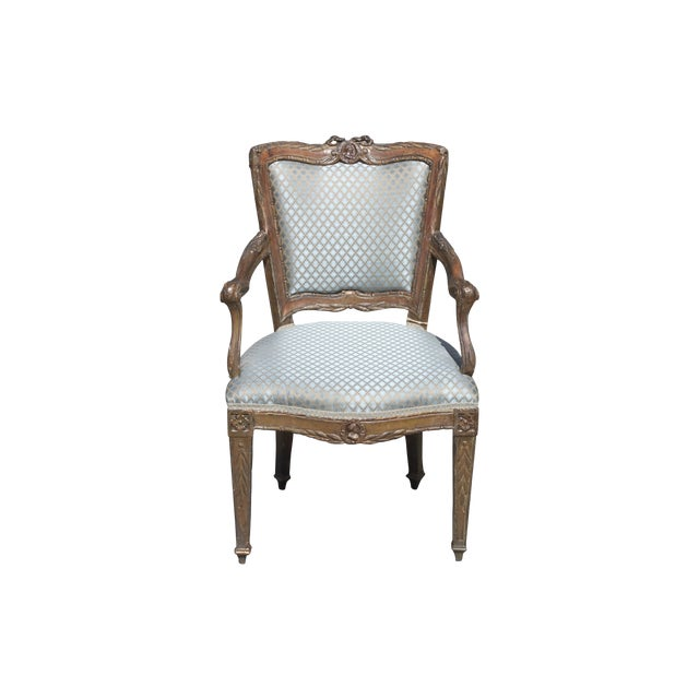 Image of 18th-Century French Gilt Armchair