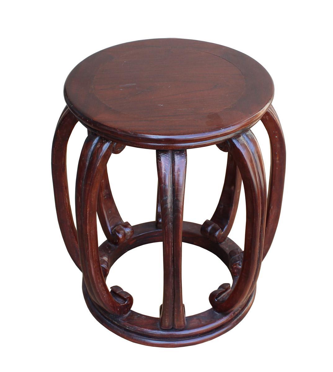 Chinese Oriental Brown Wood Barrel Stool - Image 3 of 6  sc 1 st  Chairish & Chinese Oriental Brown Wood Barrel Stool | Chairish islam-shia.org