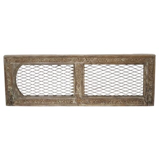 Jaisalmer Vintage Carved Mirror With Grill Work