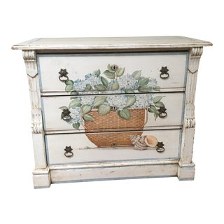 Antique Shabby Chic Hand Painted Chest of Drawers
