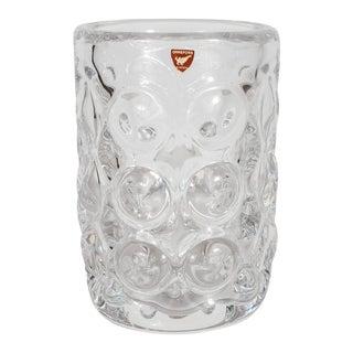Gorgeous Mid-Century Modernist Handblown Vase by Orrefors of Sweden