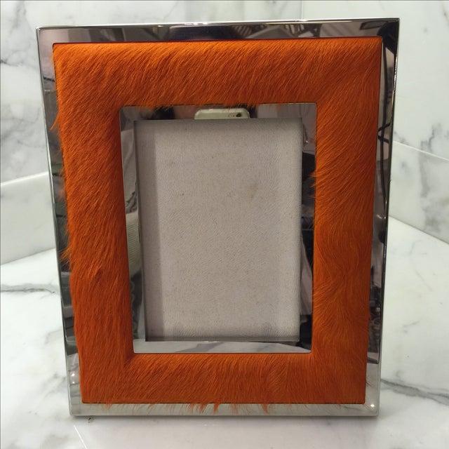 "Orange Ponyskin Frame- 5"" x 7"" - Image 3 of 7"