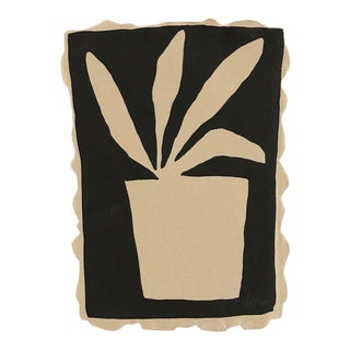 """Kate Roebuck """"Potted Plant One"""" Sumi Ink Painting"""
