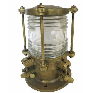 Bronze Piling Nautical Dock Light with Fresnel Lens