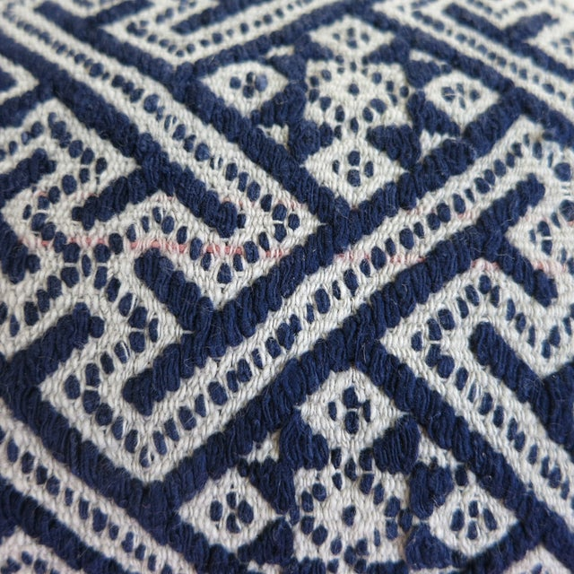 New Hmong Indigo Wedding Blanket Pillow - Image 4 of 4
