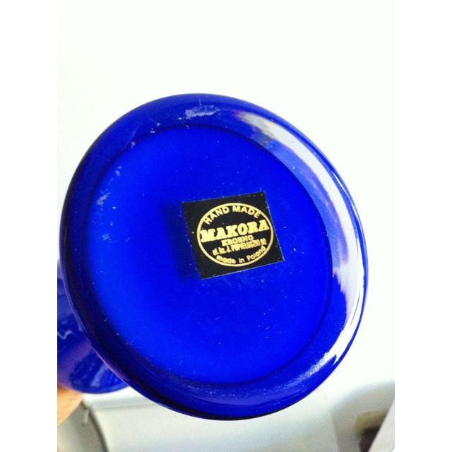 Makora Handblown Glass Curvy Cobalt Vase - Image 5 of 5
