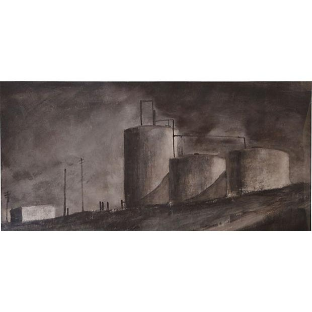 Image of Bjorn Rye 'Approaching Storm' Charcoal on Paper