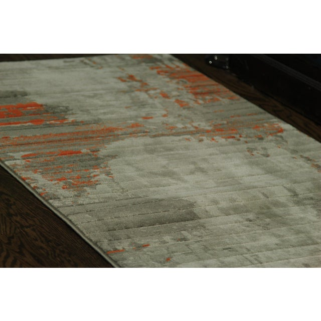 Contemporary Abstract Orange Rug - 2'8''x10' - Image 3 of 5