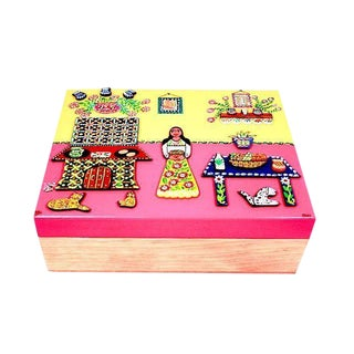 Handcrafted Spices Wooden Box