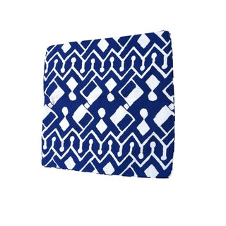 Blue Geometric Pillows - A Pair