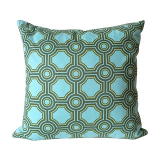 Aqua Mod Print Down Filled Pillow