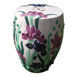 Purple Iris Garden Stool