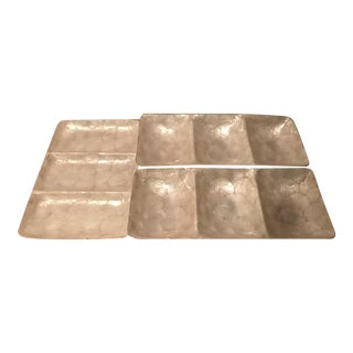 Mother of Pearl Rectangular Serving Trays - Set of 3