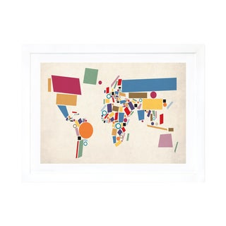 Michael Tompsett Geometric World Map Print