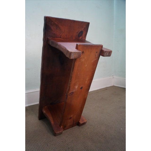 Rustic Slab Wood Coffee Table - Image 9 of 10