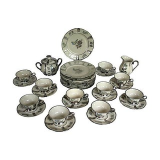 1920s Stolzenfels Silver Butterfly Tea Set/10