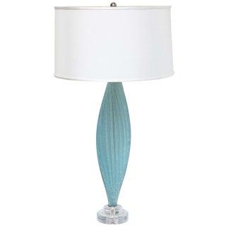 Mid-Century Blue Murano Glass Lamp