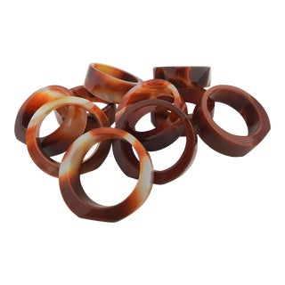 Agate Napkin Rings- Set of 10