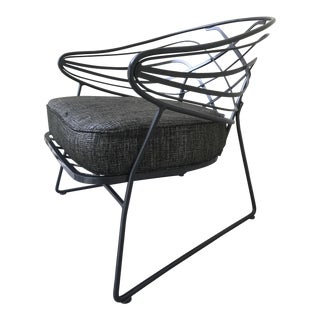 Mid-Century Wrought Iron Lounge Chair
