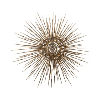 Mid Century Metal Starburst Wall Sculpture