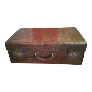 19th Century Alligator Suitcase