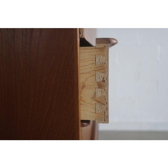 Image of Danish Modern Teak Tallboy Dresser