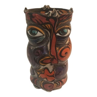 1996 Buxton Taylor Face Motif Vase