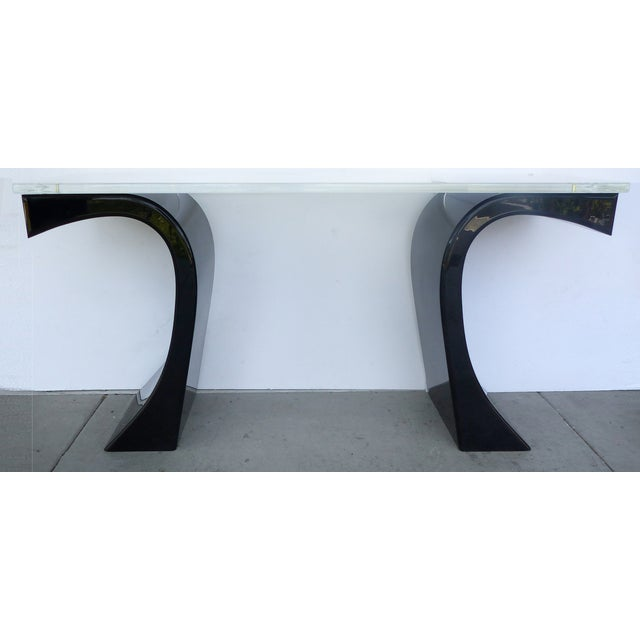 Curved Acrylic & Lucite Console - Image 2 of 6