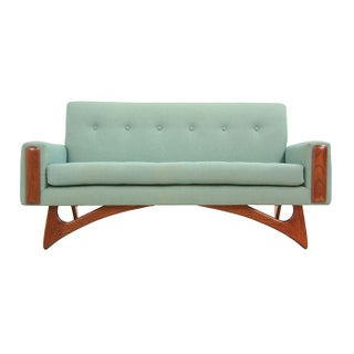 Craft Associates Walnut Settee by Adrian Pearsall