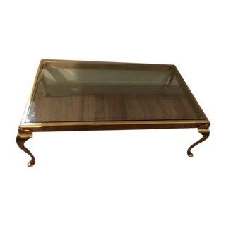 Vintage Designer Brass Coffee Table