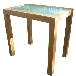 Mako Suda Contemporary Glass Top Table