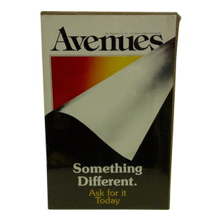 Avenues Magazine Something Different Ask for It Today Promotional Poster