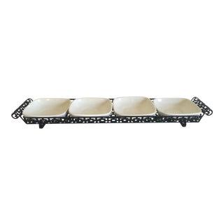 Vintage Mid-Century Metal & Ceramic Trays