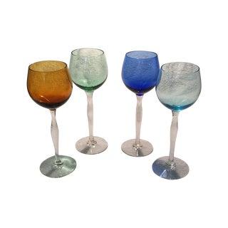 Tall Italian Hand Blown Glass Champagnes - 4